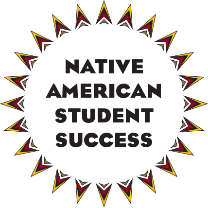 "Dakota star with ""native american student success"" in it"