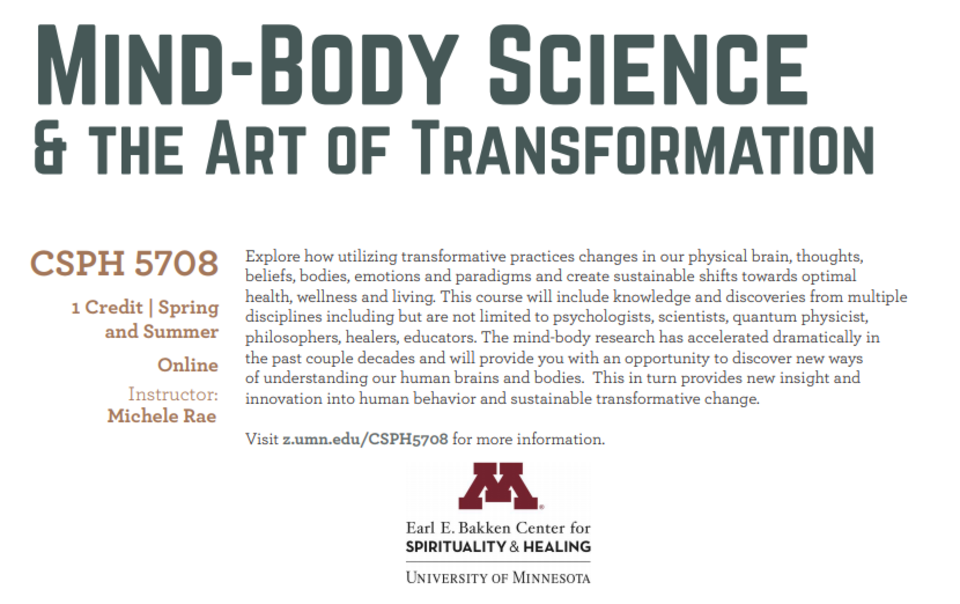 Mind-Body science and the art of transformation