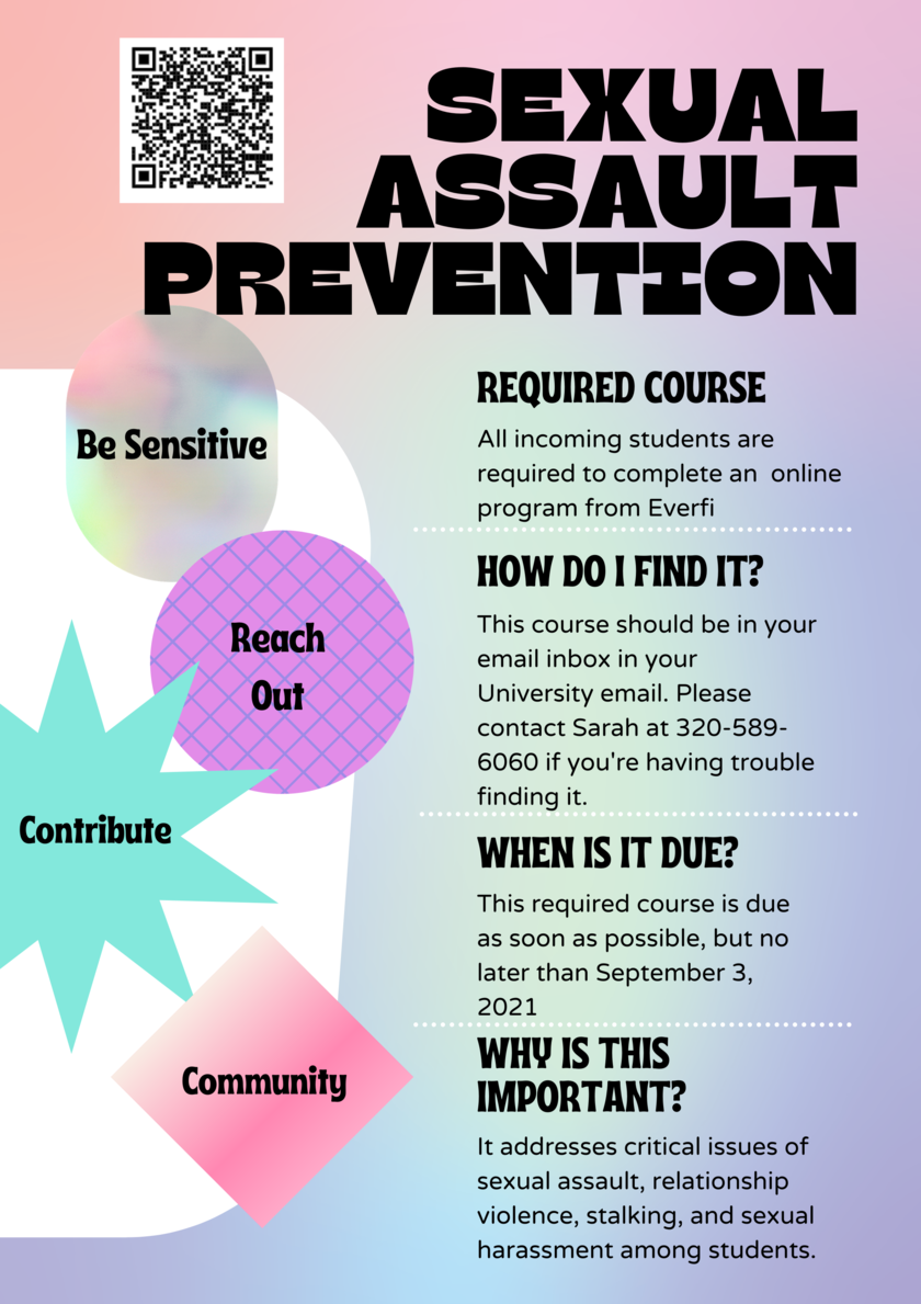 Sexual Assault Prevention Poster
